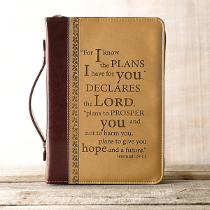 Faux Leather Bible Cover – I Know the Plans Jeremiah 29:11