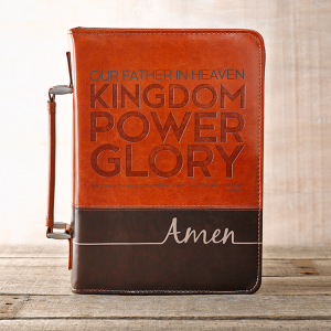 Faux Leather Bible Cover- The Lord's Prayer