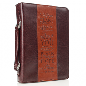 Faux Leather Bible Cover-For I Know the Plans I Have for You  Jeremiah 29:11