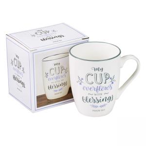 Mug- Ceramic My Cup Overflows Psalm 23:5