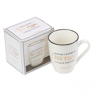 Mug- Ceramic For I Know the Plans I have for you Jeremiah 29: 11