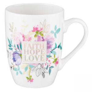Mug- Ceramic Faith Hope Love