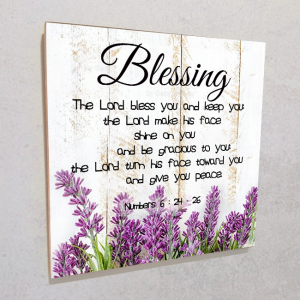 Wall plaque MDF- Blessing