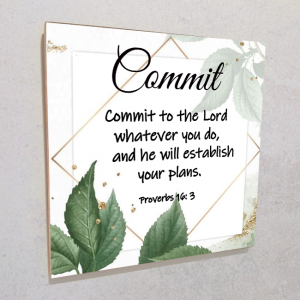 Wall plaque MDF-Commit