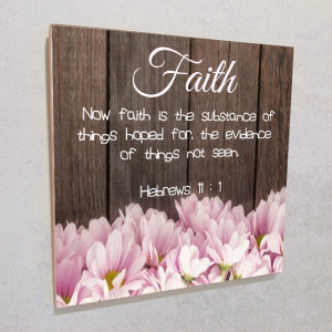 Wall plaque MDF- Faith