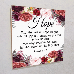 Wall plaque MDF- Hope