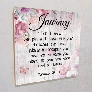 Wall plaque MDF- Journey