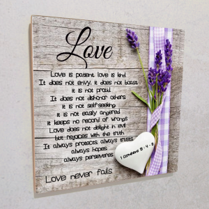 Wall plaque MDF- Love