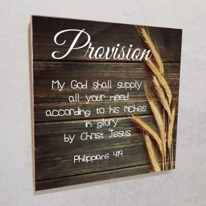 Wall plaque MDF- Provision