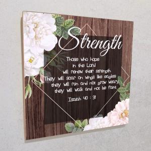 Wall plaque MDF- Strength