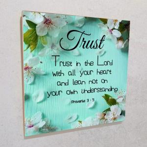 Wall plaque MDF- Trust
