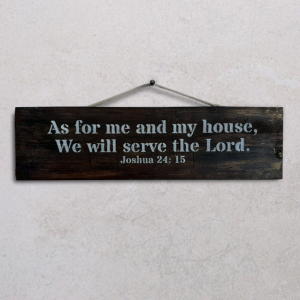 Wallplaque PWS-As for Me and My House