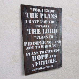 Wallplaque PXL-For I Know the Plans I have For You