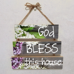Wall plaque multiple-God bless this Home