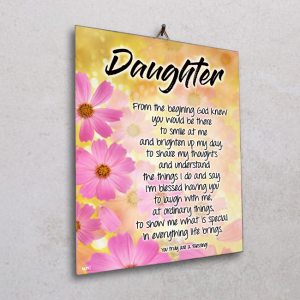 Wall plaque-Daughter