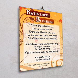 Wall plaque-Retirement Blessing
