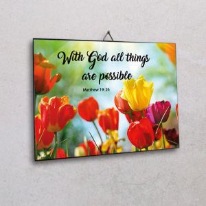 Wall plaque-With God all things are possible