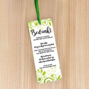 Bookmark Large – Bedankt