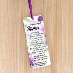Bookmark Large – My wonderful mother
