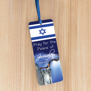 Bookmark Large – Pray for the peace of Jerusalem