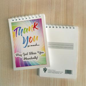 Mini Note Block – Thank you (rainbow)
