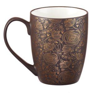 Mug- Foiled Stoneware I trust in God's unfailing goodness
