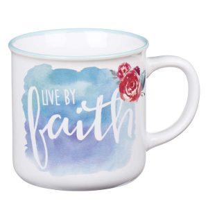 Mug- Watercolor Live by Faith