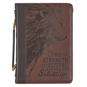 Faux Bible Cover-The Lord is My Strength Exodus 15:2