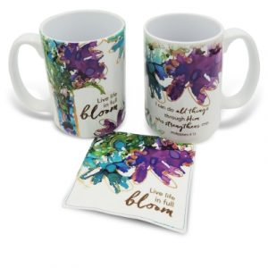 Mug With Fabric Coaster-Life In Full Boom