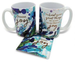 Mug with Coaster-Choose Joy