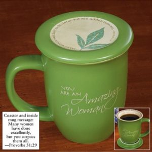 Mug With Coaster-You Are An Amazing Woman