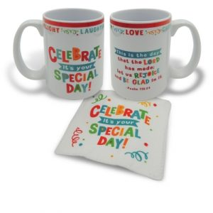Mug With Fabric Coaster-Celebrate It's Your Special Day