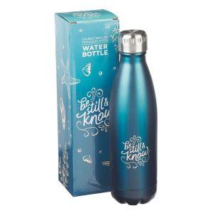 Stainless Steel Water Bottle-Be Still & Know Frosty Blue