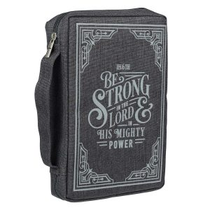 Canvas Bible Cover-Be Strong In The Lord In His Mighty Power