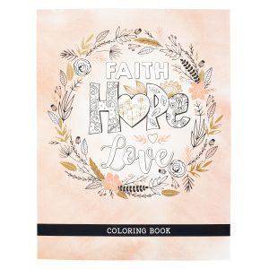 Coloring Book-Faith Hope Love