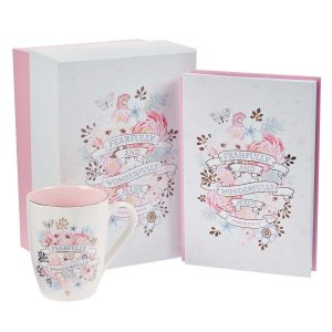 Fearfully and Wonderfully Made Journal and Mug Boxed Gift Set For Women
