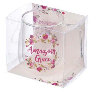 Glass Coffee Mug-Amazing Grace