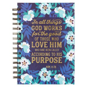 Journal Wirebound-In All Things God Works For Good