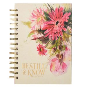 Journal Wirebound-Be Still and Know Pink Roses
