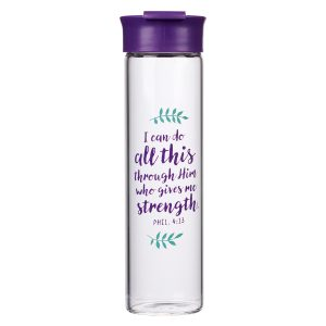 Glass Water Bottle-I Can Do All Things